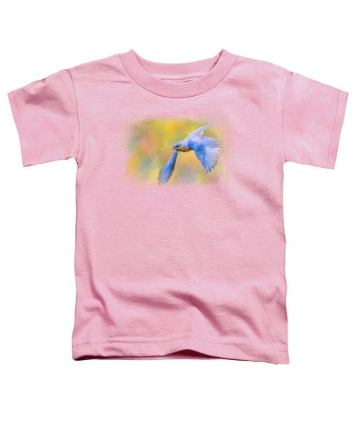 Bluebird Spring Flight Toddler T-Shirt by Jai Johnson