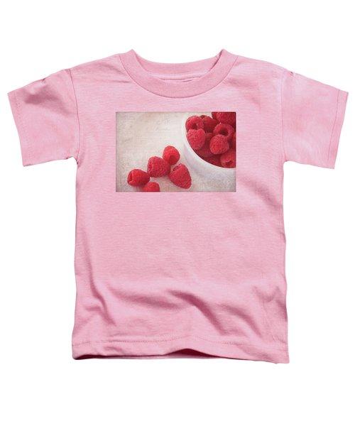 Bowl Of Red Raspberries Toddler T-Shirt by Cindi Ressler