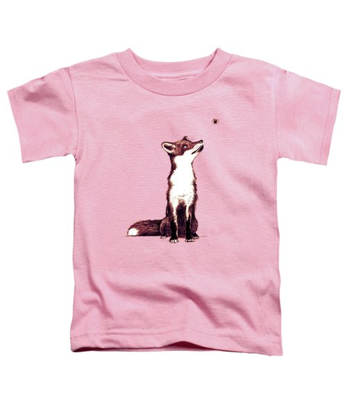 Brown Fox Looks At Thing Toddler T-Shirt by Nicholas Ely