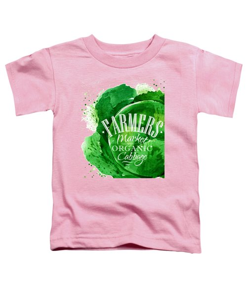 Cabbage Toddler T-Shirt by Aloke Design