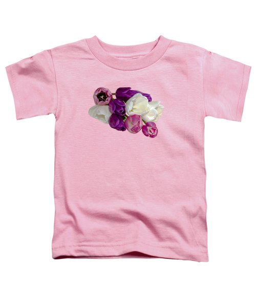 Cascading Tulips Toddler T-Shirt by Phyllis Denton
