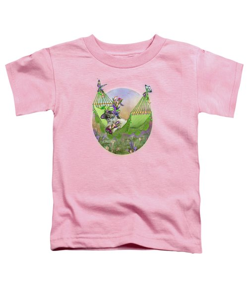 Cat In Calla Lily Hat Toddler T-Shirt by Carol Cavalaris