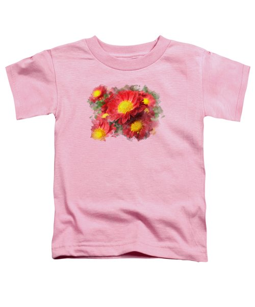 Chrysanthemum Watercolor Art Toddler T-Shirt by Christina Rollo
