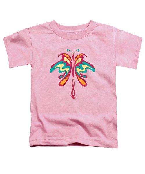 Colourful Art Nouveau Butterfly Toddler T-Shirt by Heidi De Leeuw