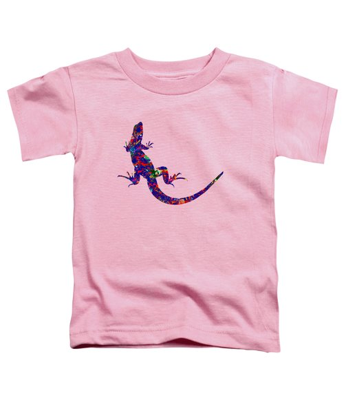 Colourful Lizard Toddler T-Shirt by Bamalam  Photography