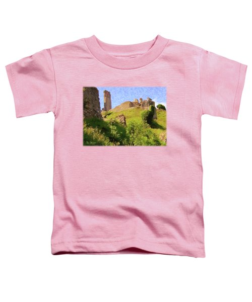 Corfe Castle Toddler T-Shirt by Jon Delorme