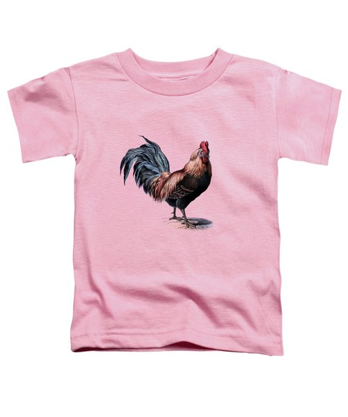 Cottage Rooster Illustration Vintage Dictionary Book Page Toddler T-Shirt by Jacob Kuch
