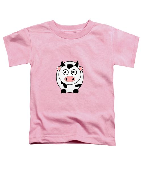 Cow - Animals - Art For Kids Toddler T-Shirt by Anastasiya Malakhova
