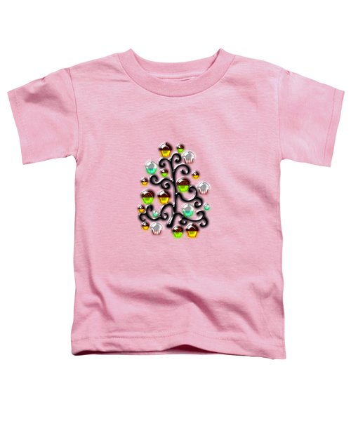 Cupcake Glass Tree Toddler T-Shirt by Anastasiya Malakhova