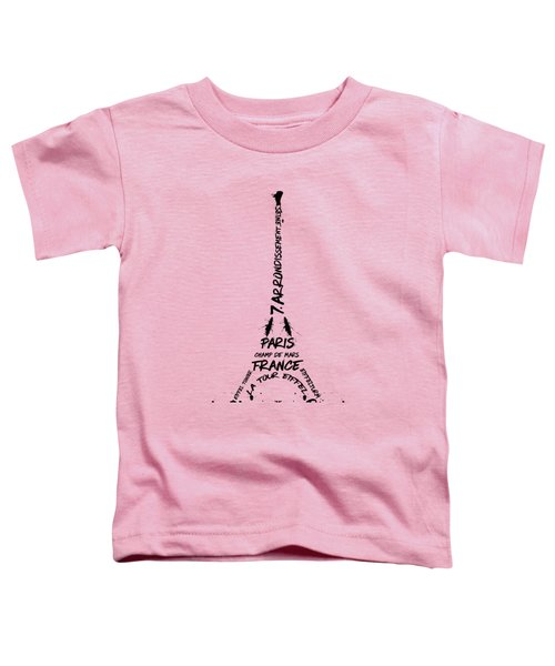 Digital-art Eiffel Tower Toddler T-Shirt by Melanie Viola