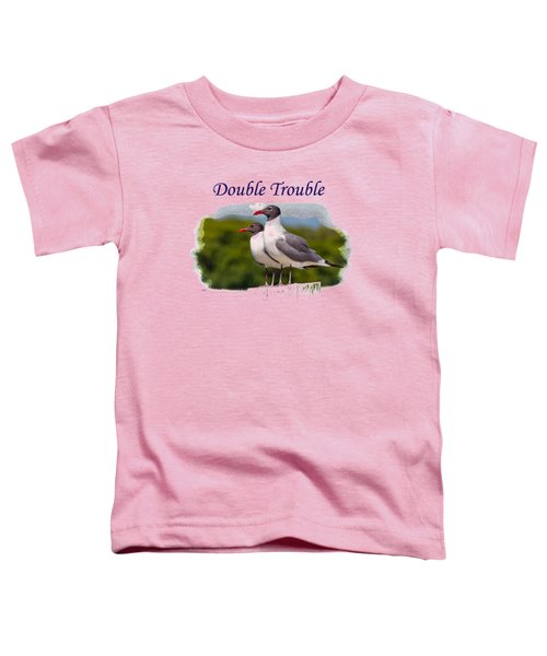 Double Trouble 2 Toddler T-Shirt by John M Bailey
