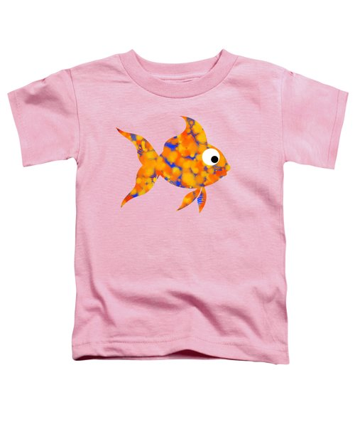 Fancy Goldfish Toddler T-Shirt by Christina Rollo