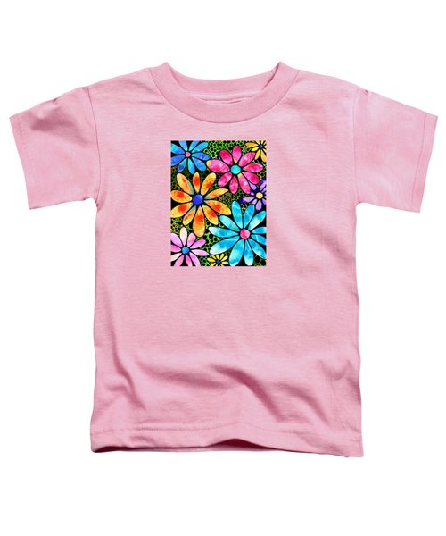 Floral Art - Big Flower Love - Sharon Cummings Toddler T-Shirt by Sharon Cummings