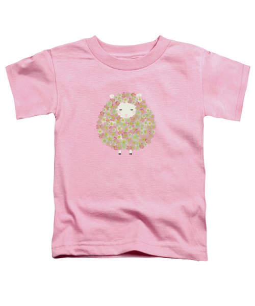 Flowery Sheep Toddler T-Shirt by Brigitte Carre