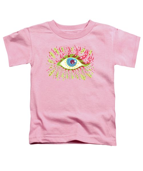 From Looking Psychedelic Eye Toddler T-Shirt by Boriana Giormova