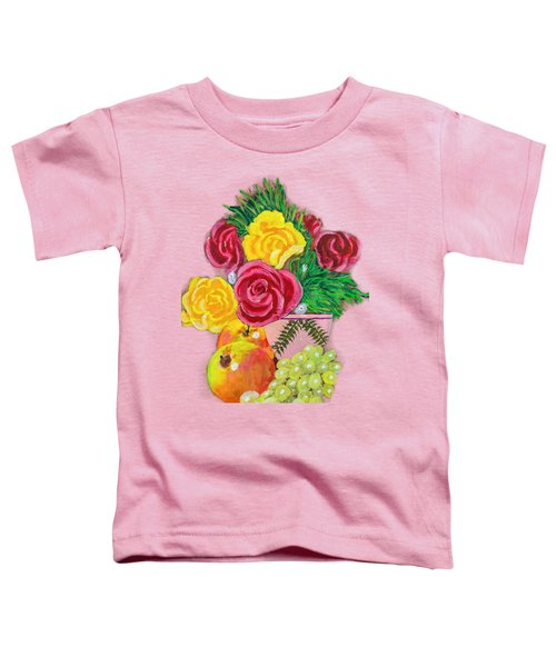 Fruit Petals Toddler T-Shirt by Joe Leist -digitally mastered by- Erich Grant