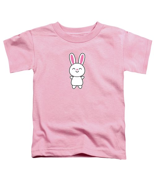 Funny Cute Rabbit Bunny In Pink Toddler T-Shirt by Philipp Rietz