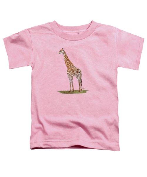 Giraffe Toddler T-Shirt by Angeles M Pomata