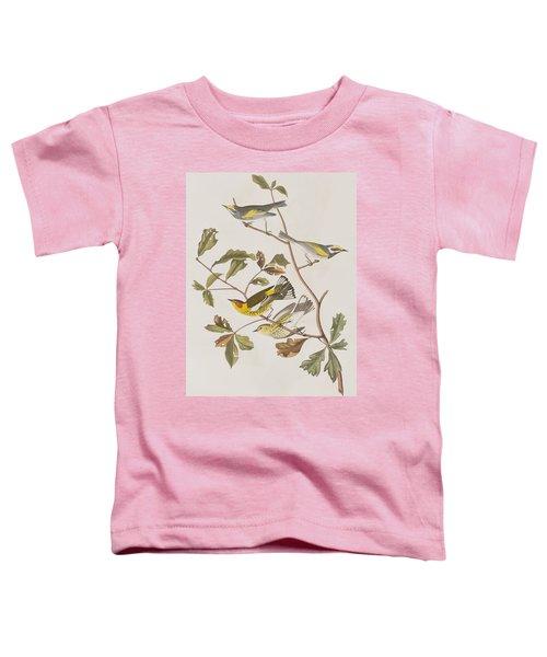 Golden Winged Warbler Or Cape May Warbler Toddler T-Shirt by John James Audubon