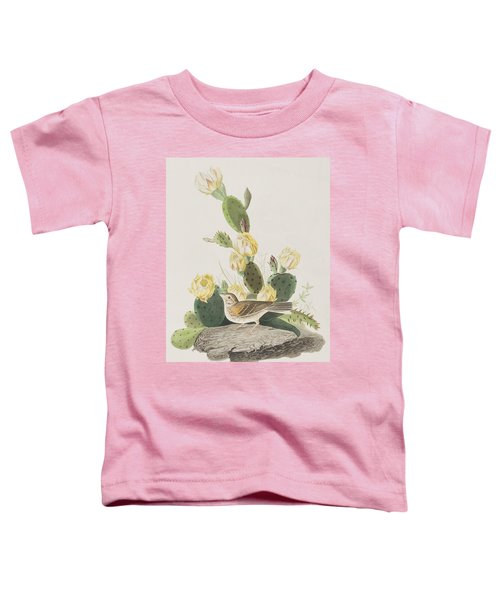 Grass Finch Or Bay Winged Bunting Toddler T-Shirt by John James Audubon
