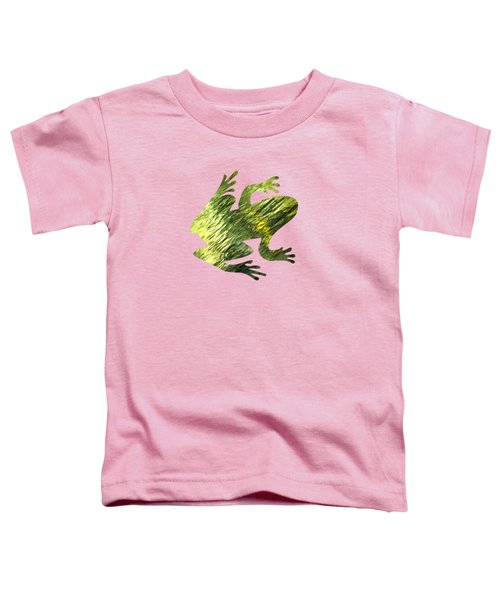 Green Abstract Water Reflection Toddler T-Shirt by Christina Rollo