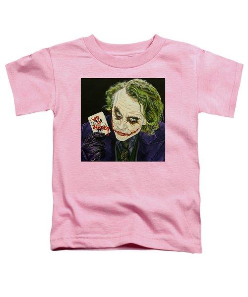 Heath Ledger The Joker Toddler T-Shirt by David Peninger