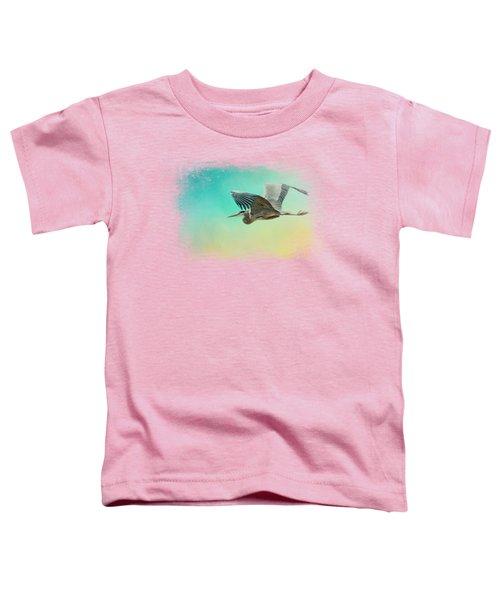 Heron At Sea Toddler T-Shirt by Jai Johnson