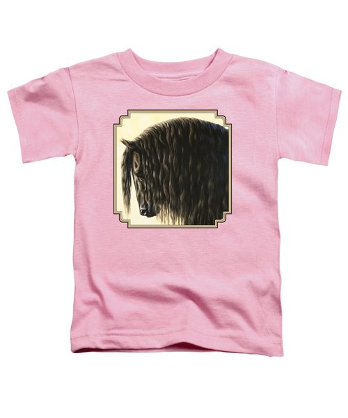 Horse Painting - Friesland Nobility Toddler T-Shirt by Crista Forest