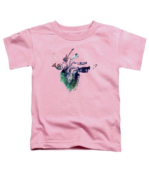I Love Music - Music My Love Toddler T-Shirt by Justyna JBJart