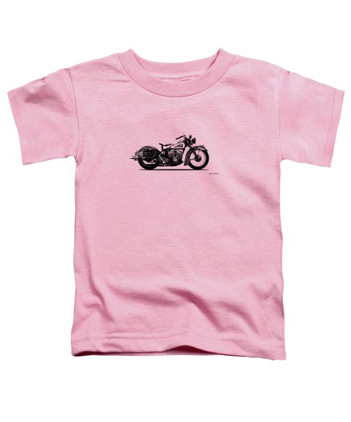 Indian Sport Scout 1939  Toddler T-Shirt by Mark Rogan
