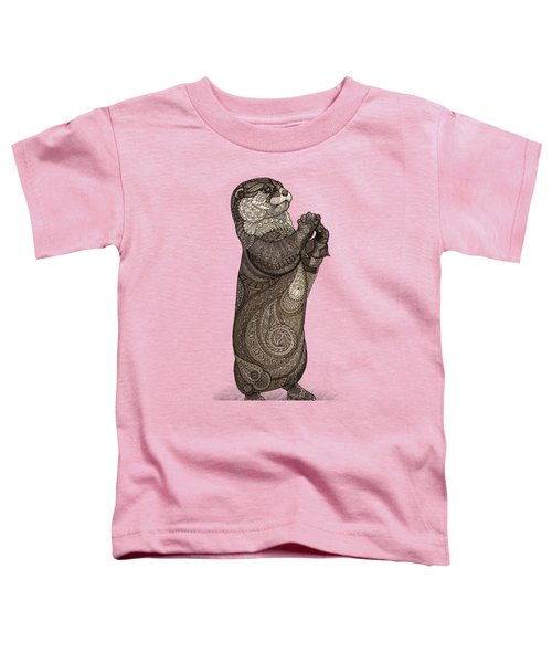 Infatuated Otter Toddler T-Shirt by ZH Field