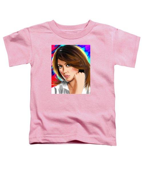 Jessica Alba Toddler T-Shirt by Isaac Martinez