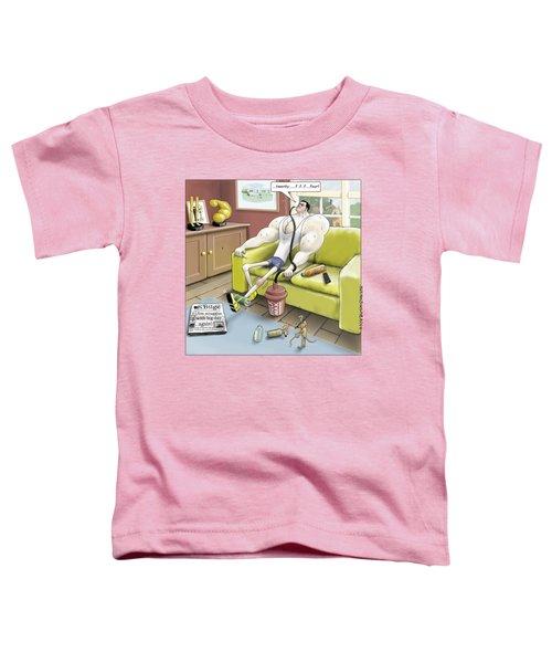 Jim - Leg Day Toddler T-Shirt by Kris Burton-Shea