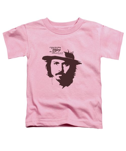 Johnny Depp Minimalist Poster Toddler T-Shirt by Lab No 4 - The Quotography Department