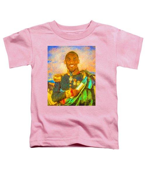 Kobe Bryant Floor General Digital Painting La Lakers Toddler T-Shirt by David Haskett