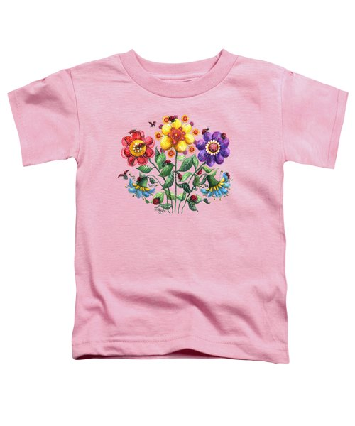 Ladybug Playground Toddler T-Shirt by Shelley Wallace Ylst