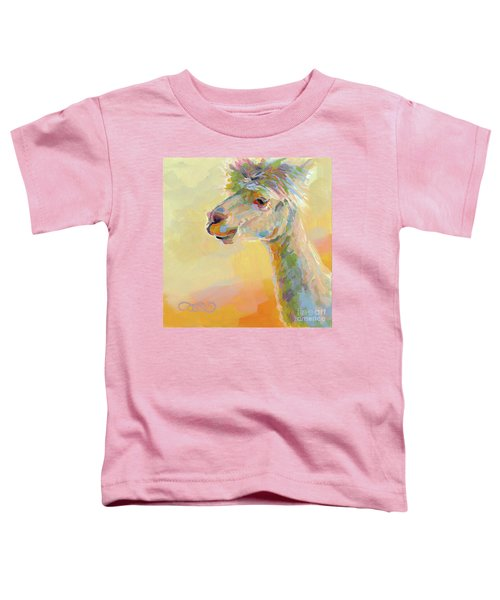 Lolly Llama Toddler T-Shirt by Kimberly Santini