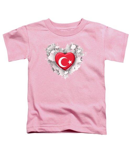 Love Turkey Toddler T-Shirt by Alberto RuiZ