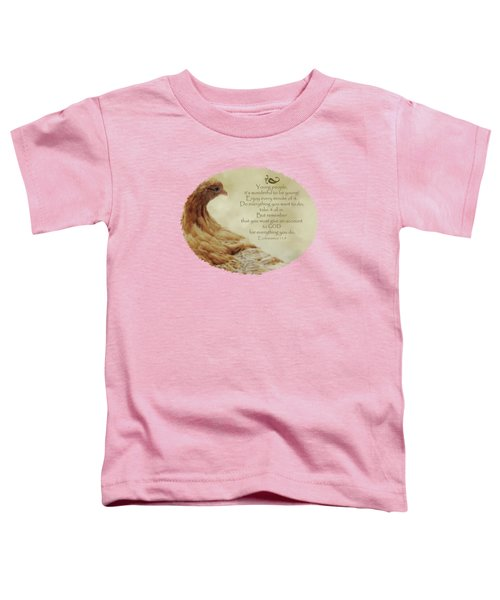 Lovely Lace - Verse Toddler T-Shirt by Anita Faye