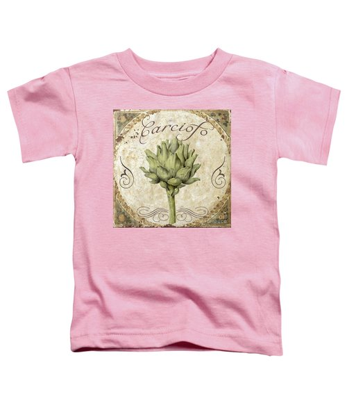 Mangia Carciofo Artichoke Toddler T-Shirt by Mindy Sommers