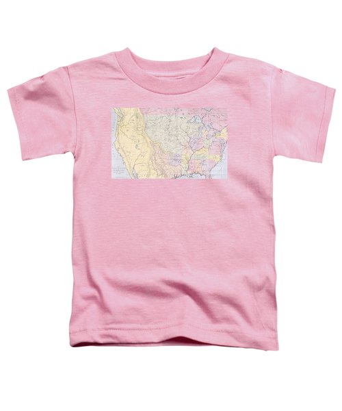 Map Showing The Localities Of The Indian Tribes Of The Us In 1833 Toddler T-Shirt by Thomas L McKenney and James Hall