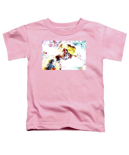 Maria Sharapova Paint Splatter 4p                 Toddler T-Shirt by Brian Reaves