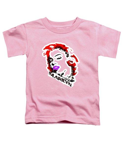 Marilyn Toddler T-Shirt by Voldemaras Lemon