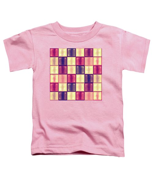 Marsala Ceramic Tiles - Square Toddler T-Shirt by Shelly Weingart