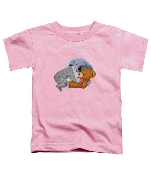 Naptime With Teddy Bear Toddler T-Shirt by Glenn Holbrook