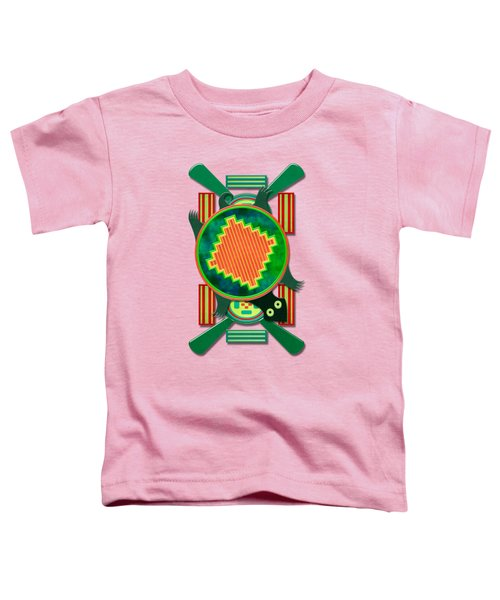 Native American 3d Turtle Motif Toddler T-Shirt by Sharon and Renee Lozen