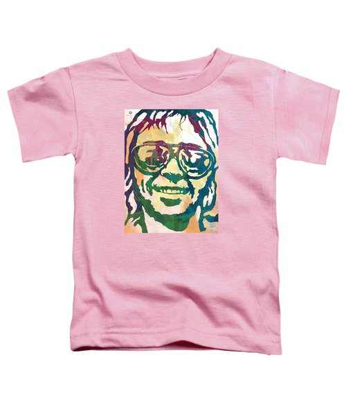Neil Young Pop Stylised Art Poster Toddler T-Shirt by Kim Wang