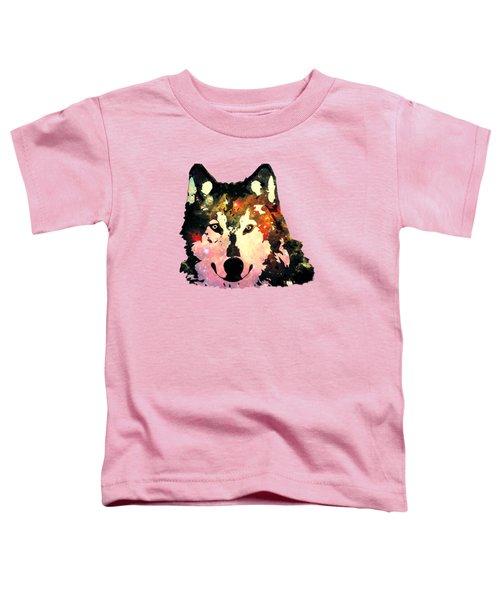 Night Wolf Toddler T-Shirt by Anastasiya Malakhova