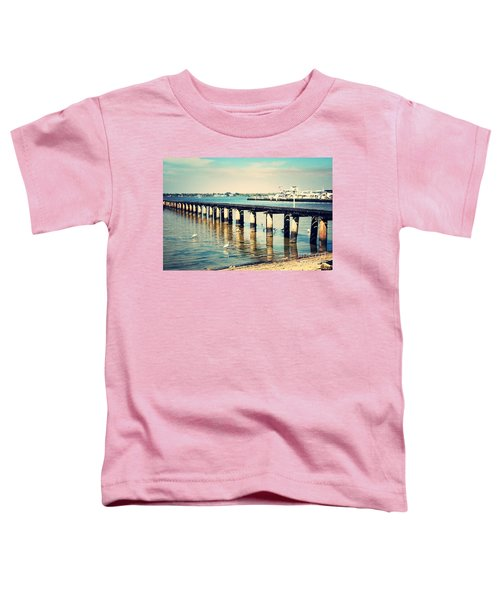 Old Fort Myers Pier With Ibises Toddler T-Shirt by Carol Groenen