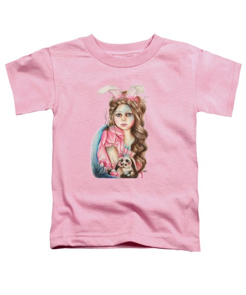 Only Friend In The World - Bunny Toddler T-Shirt by Sheena Pike